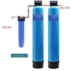hệ thống lọc tổng cao cấp van tự động xử lý nước cứng