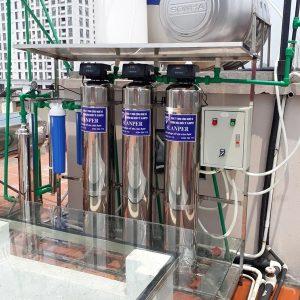 Thiết bị lọc tổng cao cấp có đèn UV tổng kho nguyễn nhâm, nhà sản xuất vật liệu lọc nước