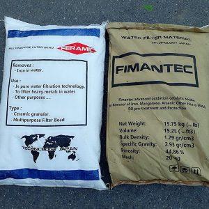 combo vật liệu lọc sắt và mangan feramic fimantec tổng kho nguyễn nhâm, nhà sản xuất vật liệu lọc nước